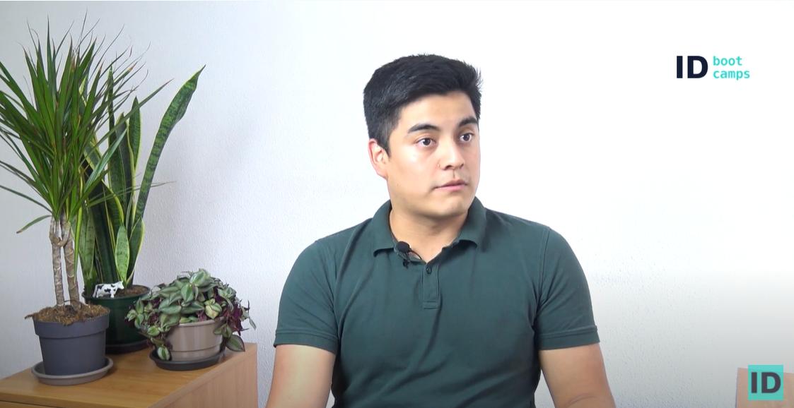 Testimonio de alumno. Danny Atiencia Bootcamp en desarrollo web Full Stack
